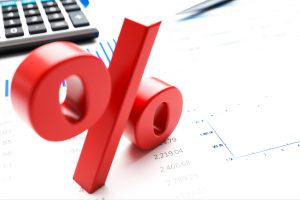 3d sign of percent on finance report